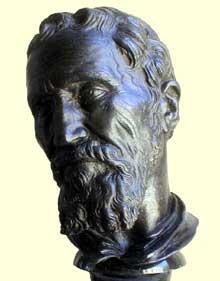 Daniele de Volterra: buste de Michel Ange. Bronze. Paris, musée du Louvre