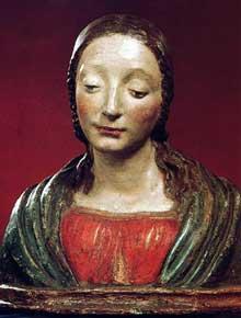 Matteo Civitali (1435-1501): Buste d'un Saint. Terre cuite vernissée, 40 cm. Budapest, musée des Beaux Arts. (Histoire de l'art - Quattrocento