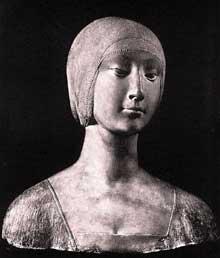 Francesco Laurana (1430-1502): Isabelle d'Aragon. Vers 1490. Marbre Palerme, Museo Nazionale. (Histoire de l'art - Quattrocento