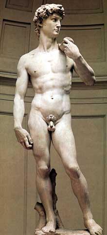 David. 1504. Marbre, 434 cm. Galerie de l'Accadémie, Florence