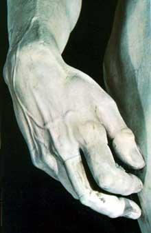 David (détail). 1504. Marbre, Galerie de l'Académie, Florence