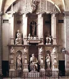Tombeau de JulesII. Vue générale. 1545. Marbre. Eglise saint Pierre in Vincoli, Rome