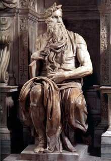 Tombeau de JulesII. Moïse. 1545. Marbre. Eglise saint Pierre in Vincoli, Rome