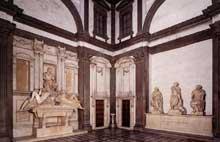 Vue de la chapelle Médicis. 1526-1533. Marbre. Nouvelle Sacristie, San Lorenzo, Florence