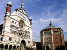 Crémone: le dôme et le baptistère, XII-XIIIè