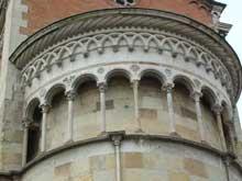 Fidenza: dôme San Donnino, XIè. Le chevet, détail