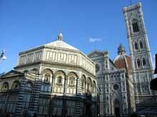 Florence: Le Baptistère, le dôme et le campanile