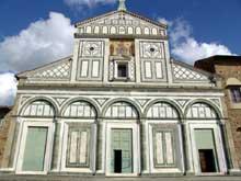 Florence: San Miniato al Monte, XI-XIIè. La façade