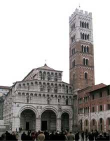 Lucques: la cathédrale saint Martin, 1210. Façade principale