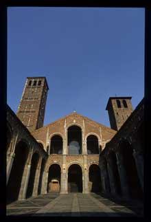 Milan: l'église basilique saint Ambroise