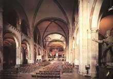 Milan: l'église basilique saint Ambroise: l'intérieur