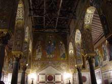 Palerme: la chapelle palatine, 1130-1140. L'intérieur