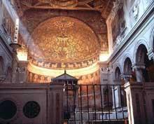Rome: église San Clemente, 1100ss. Nef et abside