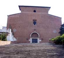 Rome : Santa Maria in Aracoeli, 1150. La façade occidentale