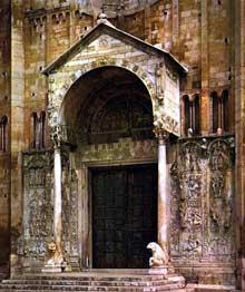 Vérone: San Zeno Maggiore, 1120-1130. Portail principal