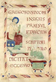 Page du sacramentaire de l'évêque Warmandus d'Ivrée