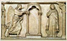 Arnolfo di Cambio (1245-1302): annonciation. Florence
