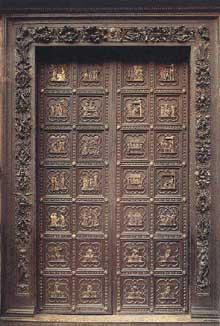 Andrea Pisano (actif entre. 1290 et1349) porte sud baptistère Florence, 1330