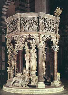 Giovanni Pisano (1250-1314): chaire de la cathédrale de Pise (1302-1311)