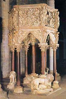 Giovanni Pisano (1250-1314): chaire de la cathédrale Saint André de Pistoia (1301)