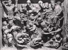 Giovanni Pisano (1250-1314): chaire de la cathédrale Saint André de Pistoia, détail (1301)