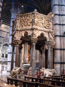 Nicola Pisano (actif entre 1258 et 1278): chaire du Dôme de Sienne