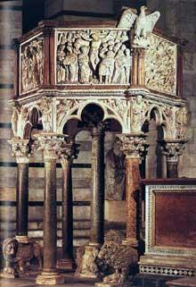 Nicola Pisano (actif entre 1258 et 1278): chaire du Baptistère de Pise
