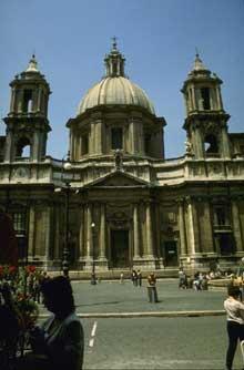 Francesco Borromini: l'église sainte Agnès in Angone à Rome