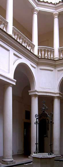 Francesco Borromini: San Carlo alle quattro Fontane (1638-1641): le cloître