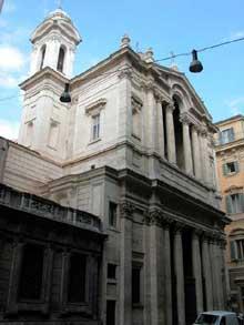 Pietro da Cortona (Pietro Berretetini): Façade de Santa Maria in Via Lata