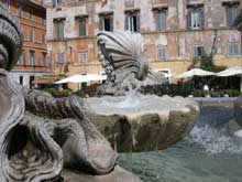 Carlo Fontana: fontaine place Santa Maria in Trastevere
