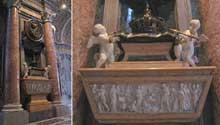 Carlo Fontana: mausolée de la reine Christine de Suède dans l'église Saint Pierre de Rome. 1702