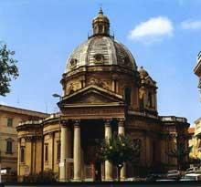 Guarino Guarini: l'église de l'annonciation des Théatins à Turin. Reconstruction du XXè
