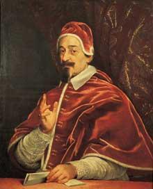 Gian Battista Gaulli «il Baciccio» (1639 - 1709): portrait du pape Alexandre VII