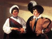 Le Caravage. La diseuse de bonne aventure. 1596-1597. Huile sur toile, 99 x 131 cm. Paris, Musée du Louvre