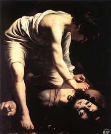 Le Caravage. David. 1600. Huile sur toile 110 x91 cm. Madrid, Musée du Prado, Madrid