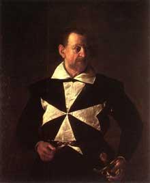 Le Caravage. Portrait d'Alof de Vignacourt. 1608. Huile sur toile, 118,5 x 95,5cm. Florence, Galleria Palatina (Palazzo Pitti)