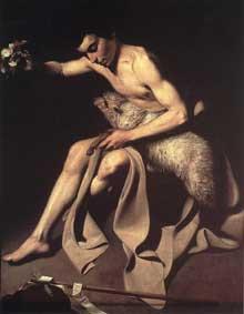 Jean le Baptiste. Huile sur toile 102,5 x 83cm. Bâle, Öffentliche Kunstsammlung