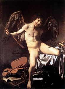 Le Caravage. L'amour Victorieux. 1602-1603. Huile sur toile, 156 x 113cm. Berlin, Staatliche Museen