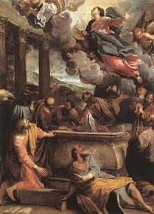 Annibal Carrache: l'Assomption de la Vierge. Vers 1590. Huile sur toile, 130 x 97cm. Madrid, musée du Prado
