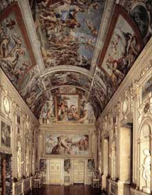 Annibal Carrache: la galerie Farnèse. 1597-1602. Vue d'ensemble. Palais Farnèse, Rome.