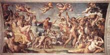 Annibal Carrache: Triomphe de Bacchus et Ariane. 1597-1602. Fresque. Palais Farnèse, Rome