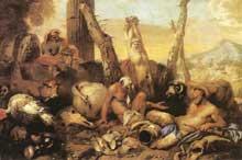 Giovanni Benedetto Castiglione: la fable de Diogène. Huile sur toile, 97 x 145cm. Madrid, musée du Prado