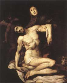 Daniele Crespi: Piéta. Vers 1626. Huile sur toile. Madrid, musée du Prado