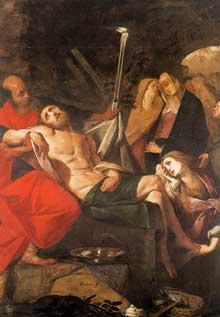 Giovanni Battista Crespi: la mise au tombeau. Huile sur toile. Novare, Museo Civico