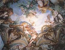 Gregorio da Ferrari: l'été. 1680. Fresque. Gênes, palais Rosso