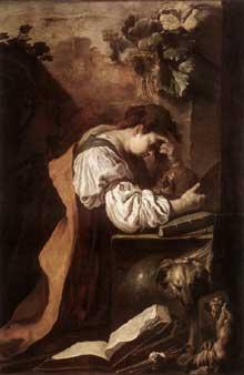 Domenico Feti: Mélancholie. Vers 1622. Huile sur toile, 179 x 140cm. Venise, Gallerie dell'Accademia