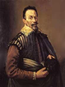 Domenico Fetti (Venise, 1589-1624): portrait de Claudio Monteverdi. Saint-Pétersbourg, musée de l'Ermitage