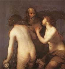 Francesco Furini: Loth et ses filles. Huile sur toile, 123 x 120cm. Madrid, Musée du Prado
