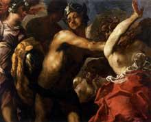 Francesco Maffei: Persée et la Méduse. Vers 1650. Huile sur toile, 130 x 161cm. Venise, Gallerie dell'Accademia